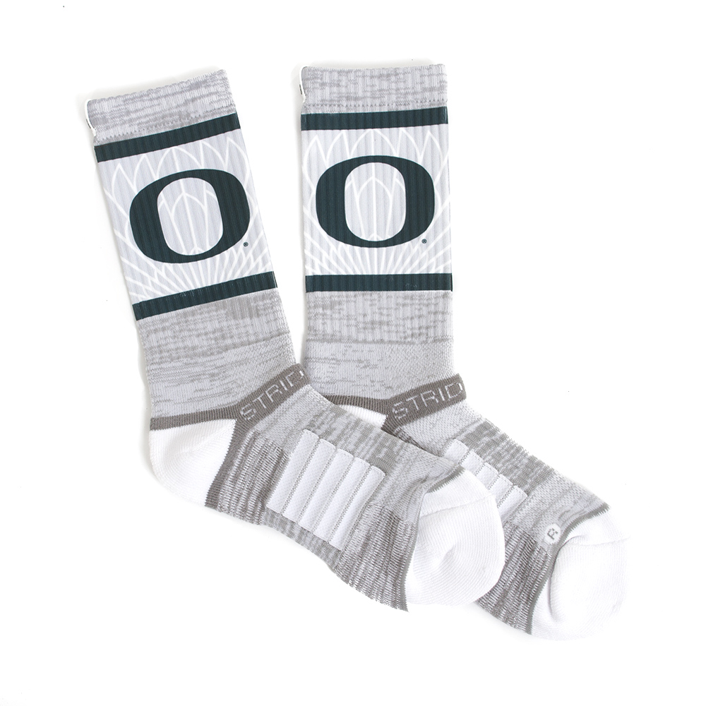 Grey Strideline Forest O with Wings Crew Sock