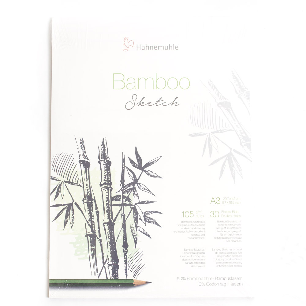 Hahnemuhle, Naturals, Bamboo, 105gsm, Sketchpad, A3, 30 Sheets