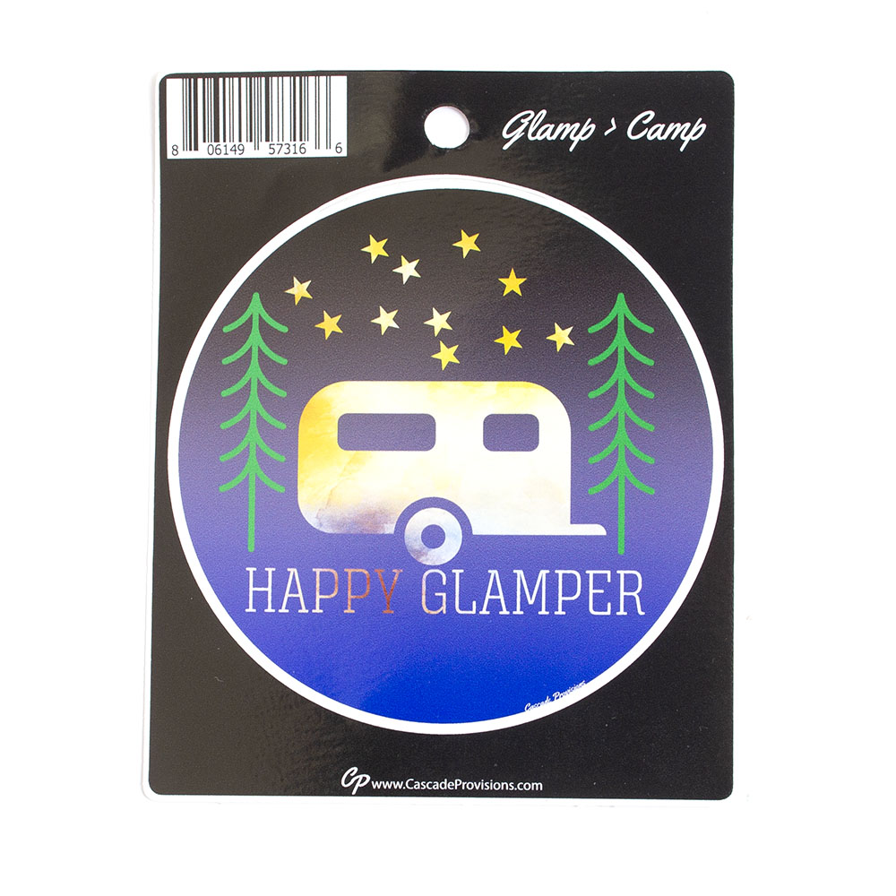 Sticker, Happy Glamper