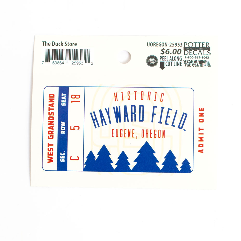 Decal, Hayward Field Ticket design