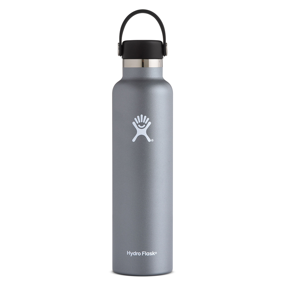 Hydro Flask, Insulated, Bottle, Standard Mouth, 24oz, Graphite