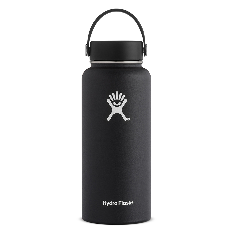 Hydro Flask, 32 Ounce, Insulated, Water Bottle, Black