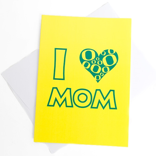 I Heart Mom Mothers Day Card