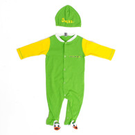 Infant Green Oregon Ducks Duck on Bottom Footie Onesie