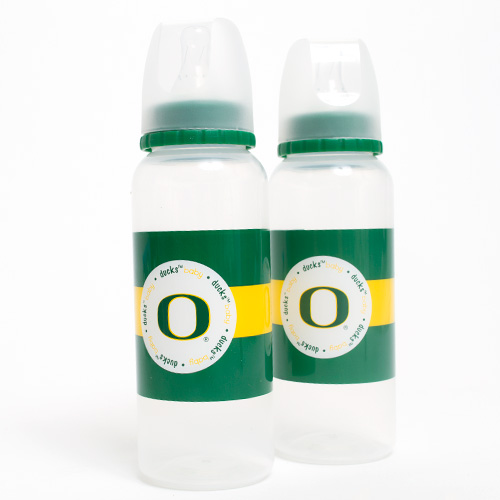 Infant White Oregon 2pc Baby Bottle Set