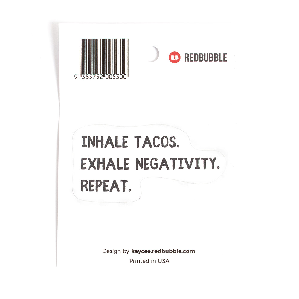 Redbubble, Sticker, Taco