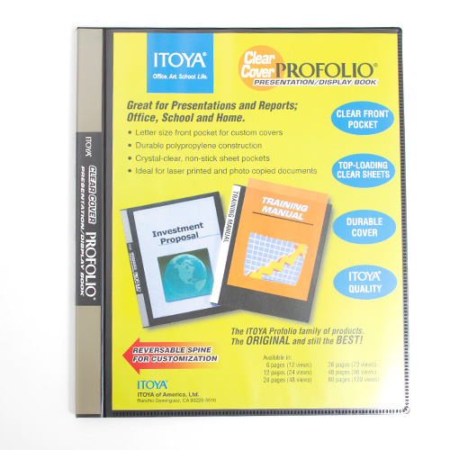Itoya, Clear Cover, Art Profolio, Presentation, Display Book, 12 Count