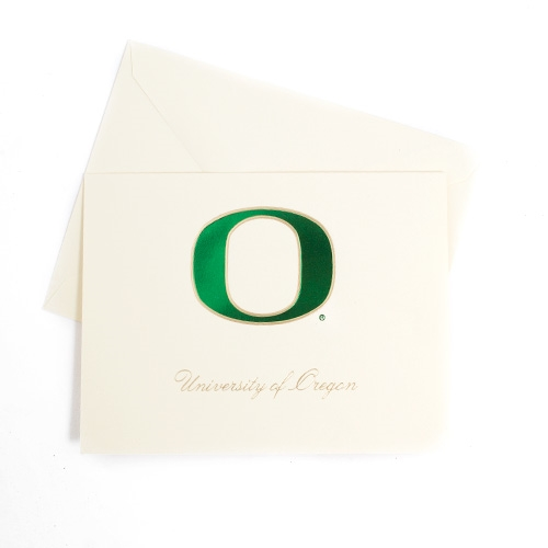 Ivory Note Card Oregon O Card 10pk