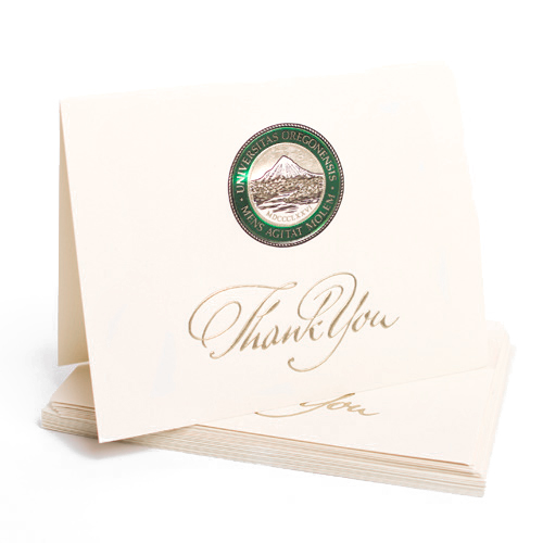 Ivory Thank You Seal Card 10pk