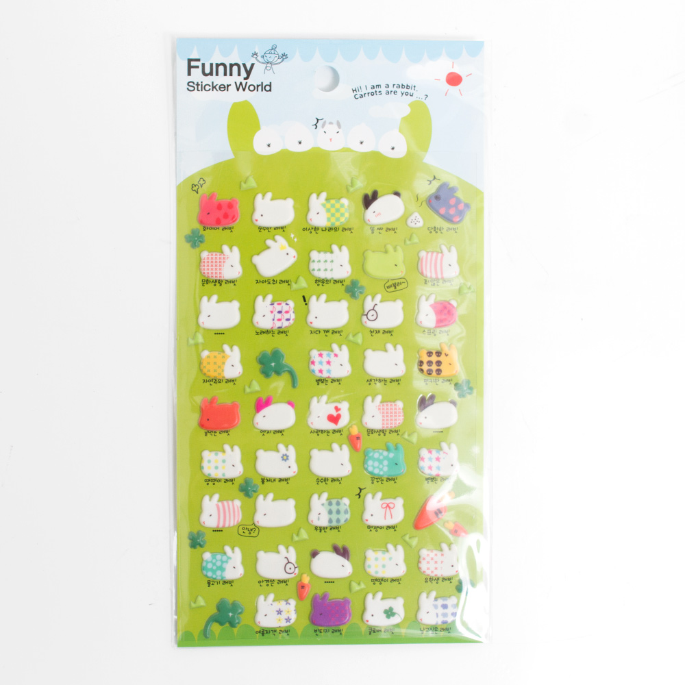 Iwako Japanese Funny Stickers Rabbits