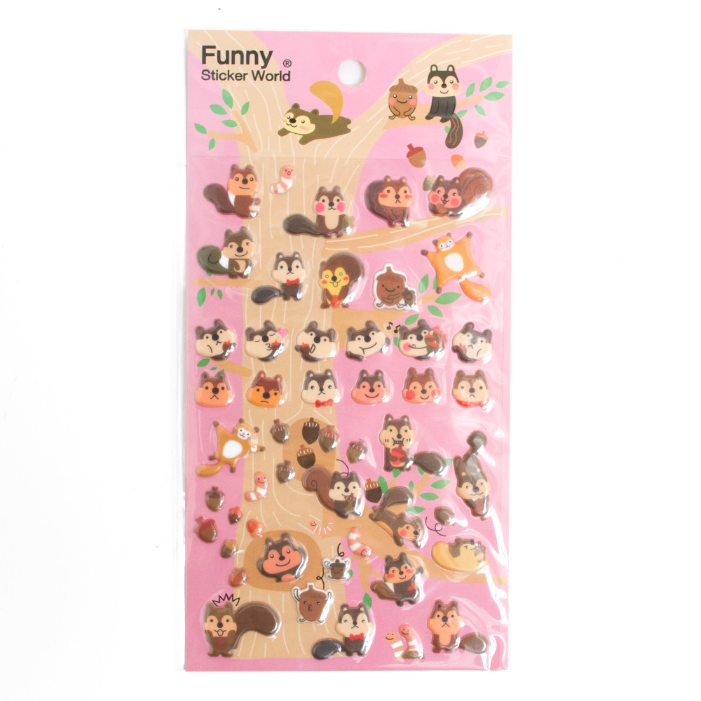 Iwako Japanese Funny Stickers Squirrel