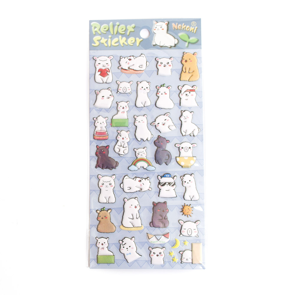 Iwako, Japanese, Stickers, Puffy, Llama