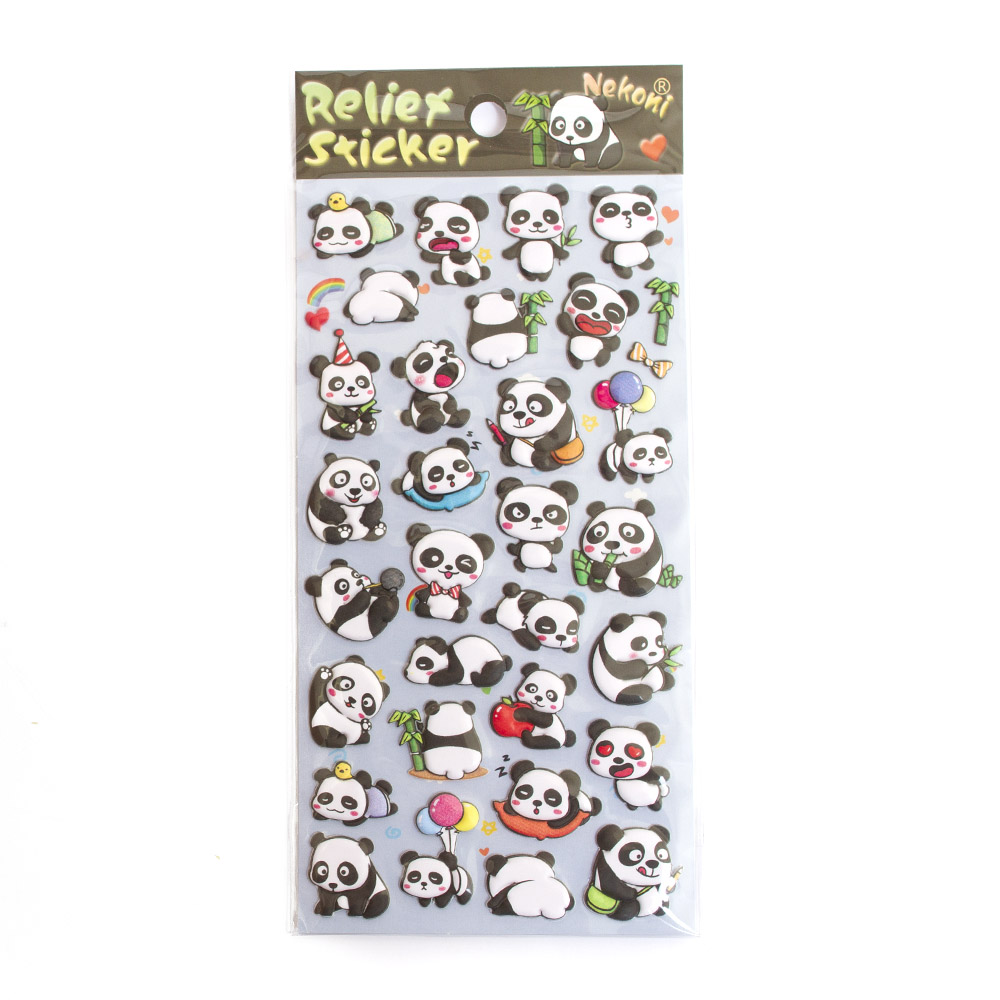 Iwako, Japanese, Stickers, Puffy, Panda