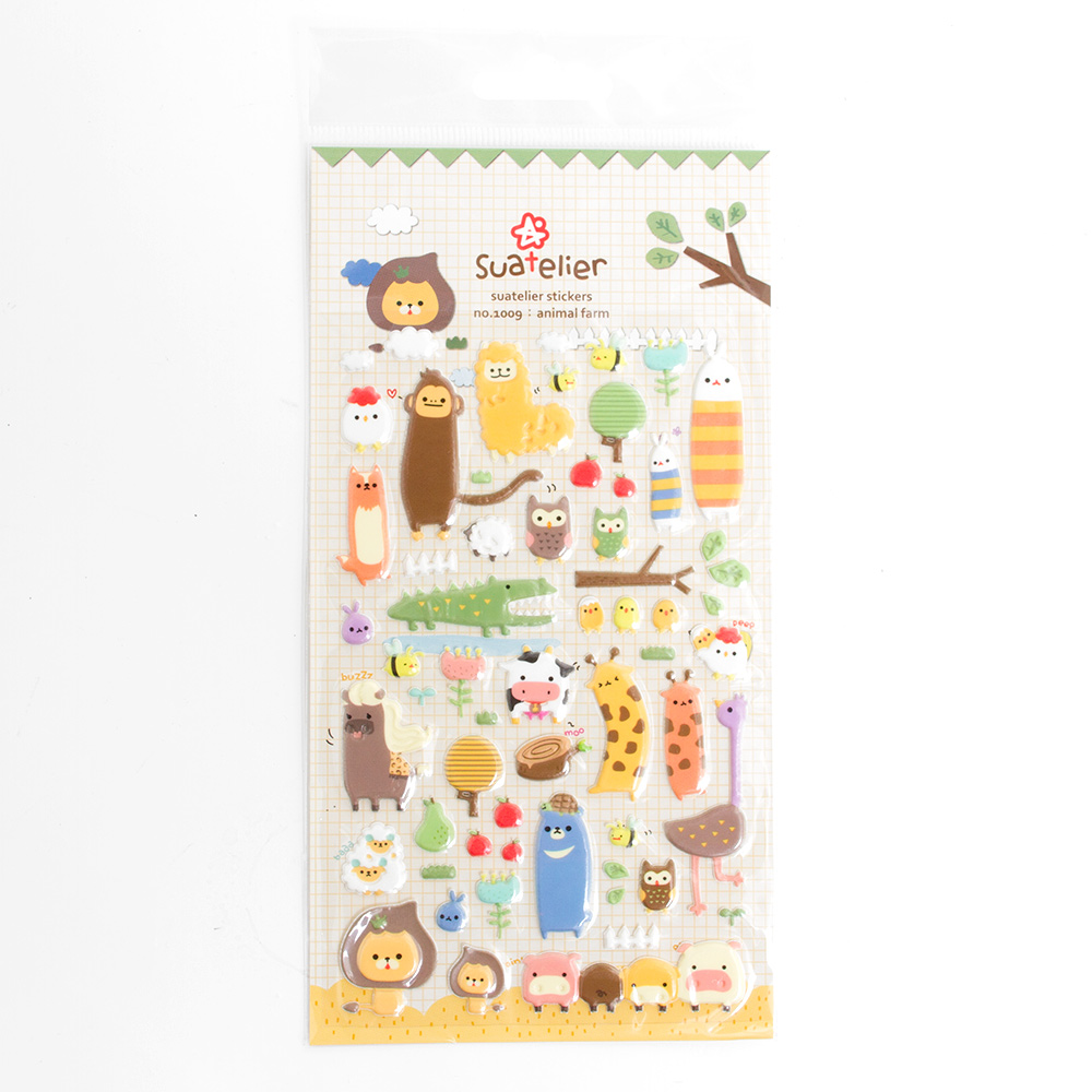 Iwako Japanese Suatelier Stickers Animal Farm