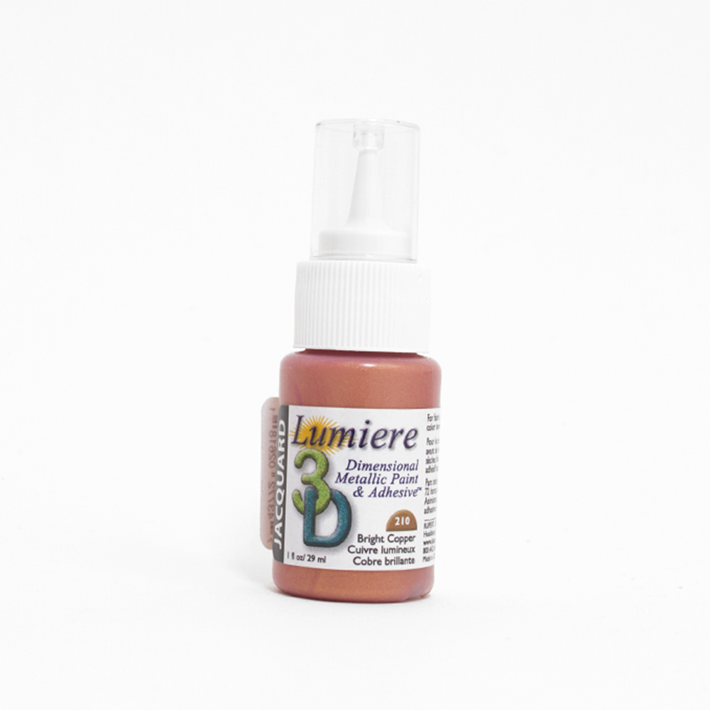 Jacquard, Lumiere, 3D Dimensional, Paint, 1oz, Bright Copper