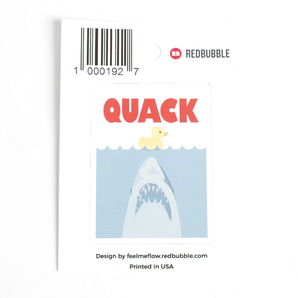 Redbubble, Sticker, Jaws