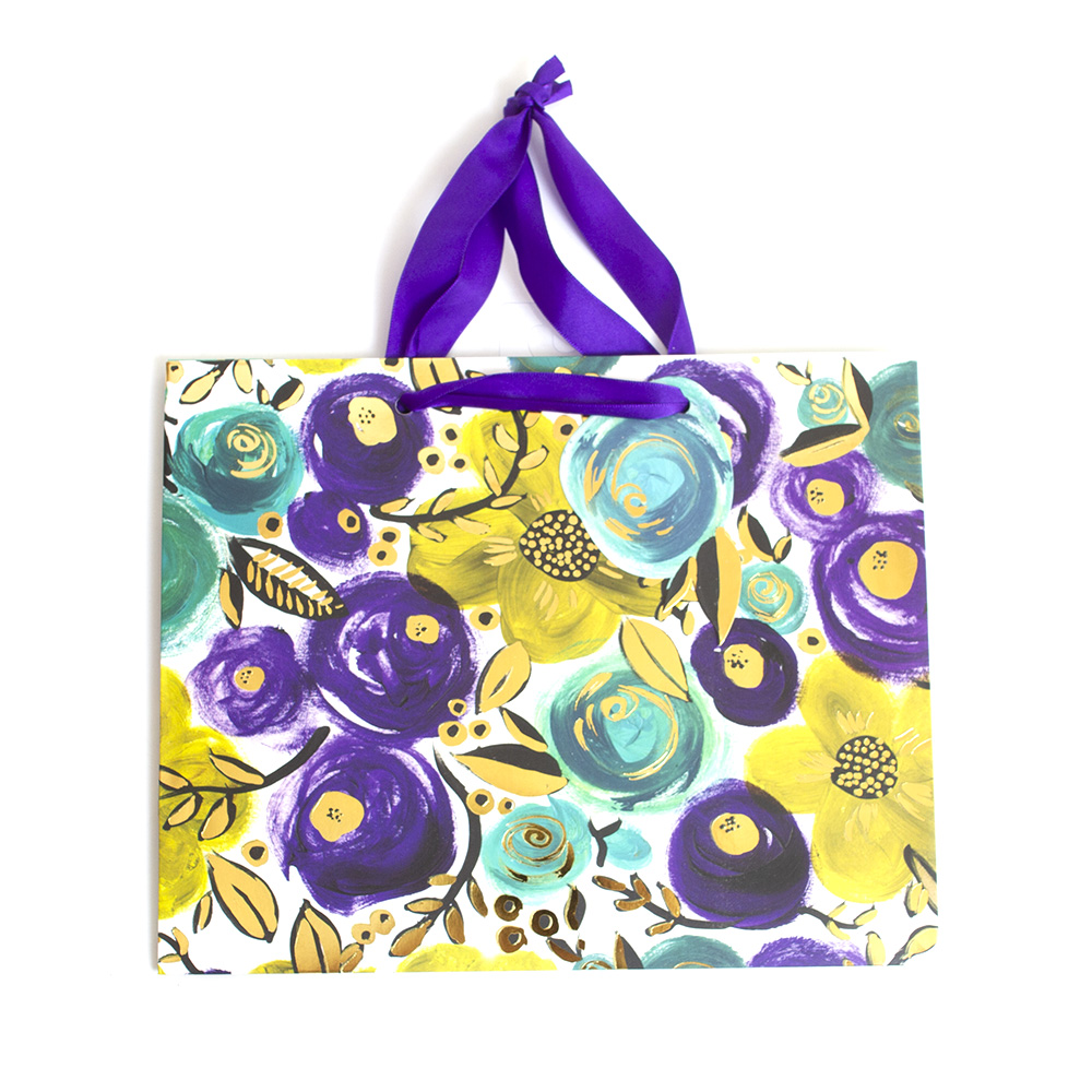 Jillson, Medium Tote, Gift Bag, Wild Flower