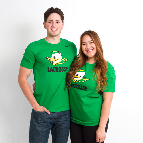 Kelly Green Nike Duck Face Lacrosse Tee