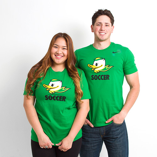 Kelly Green Nike Duck Face Soccer Tee