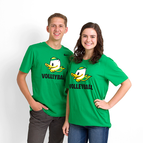 Kelly Green Nike Duck Face Volleyball Tee