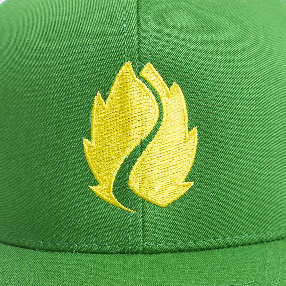 Hop Valley, Kelly Green, Trucker, Adjustable, Hat, Logo