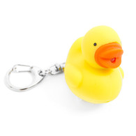 Kikkerland Light Up Keychain Duck Quack