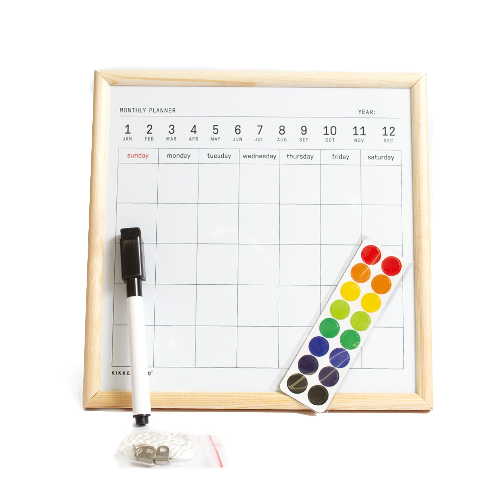 Kikkerland, White Board Calendar, Mini