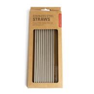Kikkerland, Stainless Steel, Straw Pack