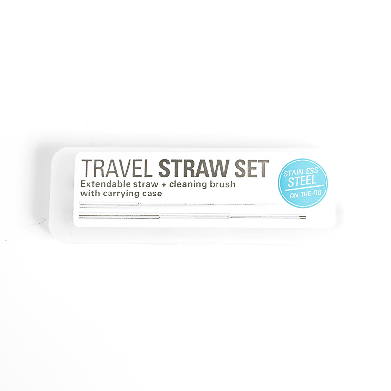 Kikkerland, Stainless Steel, Travel Straw