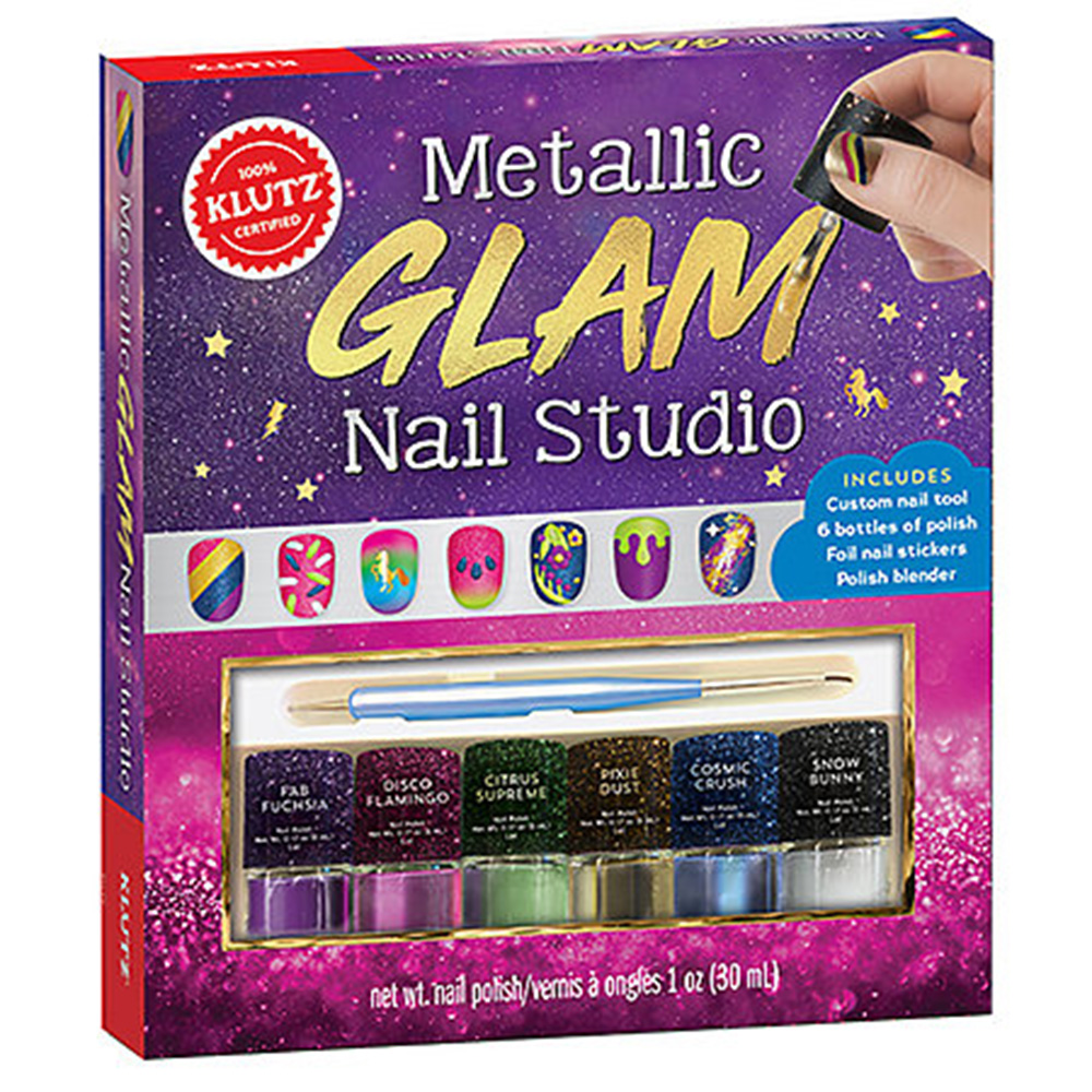Klutz, Metallic Glam, Nail Studio, Kit