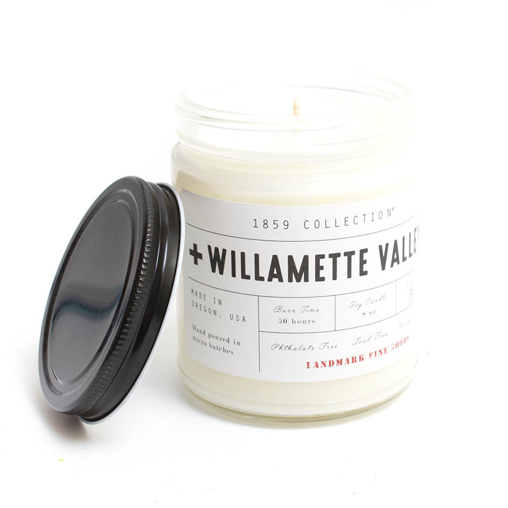 Landmark Fine Goods, Candle, 8 ounce, Willamette Valley
