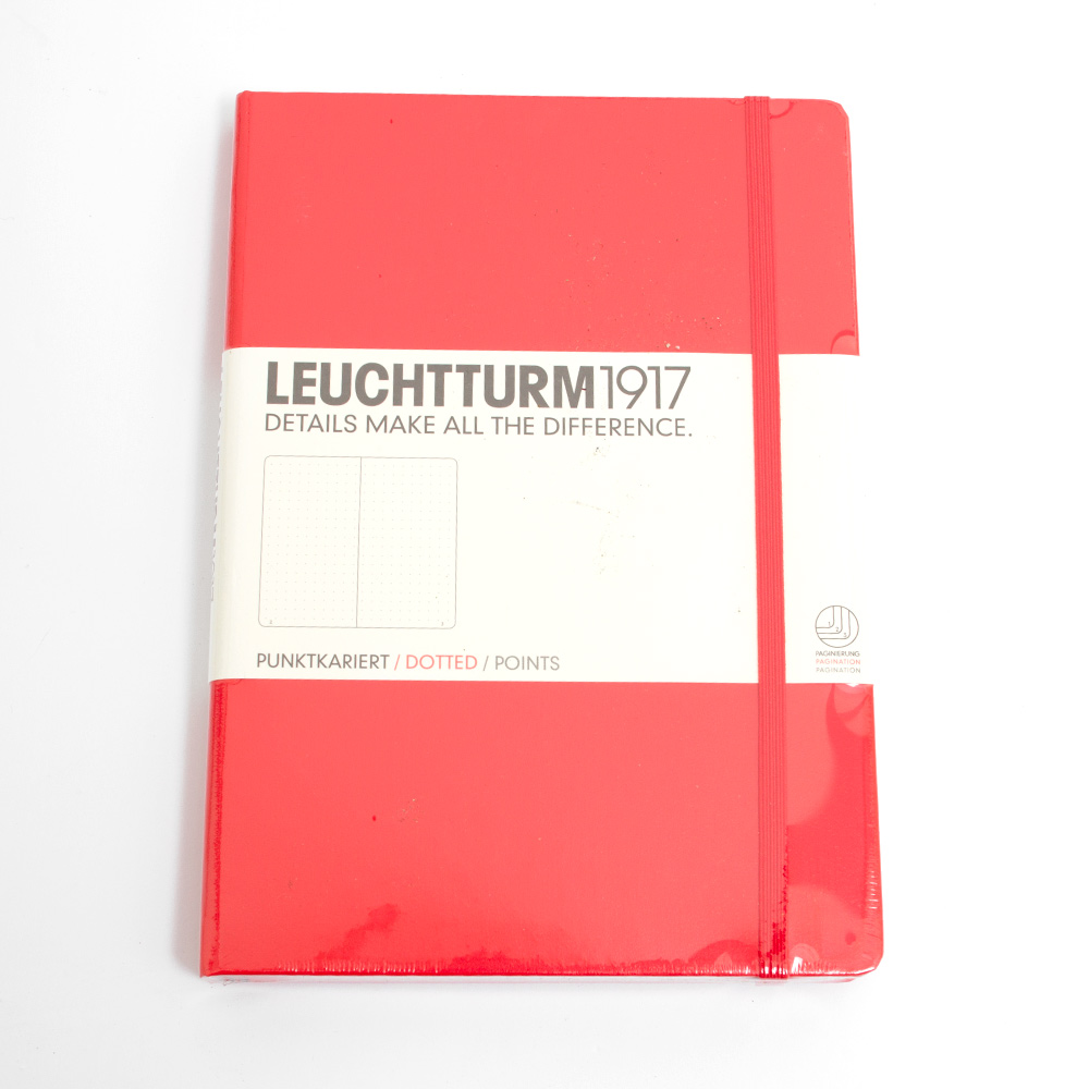 Leuchtturm, A5, Hardcover, Dotted, Red