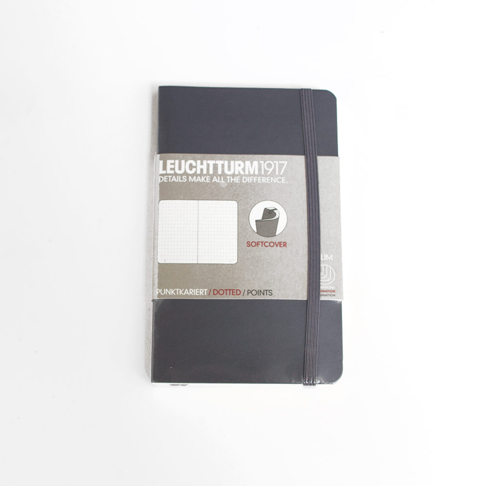 Leuchtturm, Pocket, Softcover, A6, Dotted, Anthracite