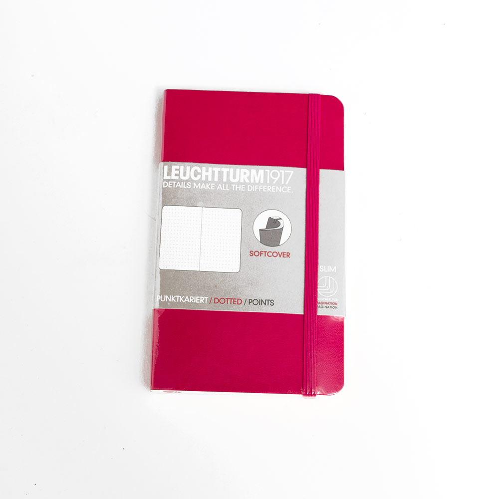 Leuchtturm, Pocket, Softcover, A6, Dotted, Berry