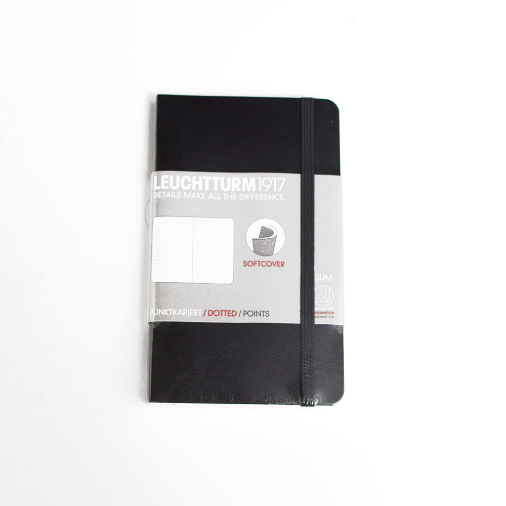 Leuchtturm, Pocket, Softcover, A6, Dotted, Black