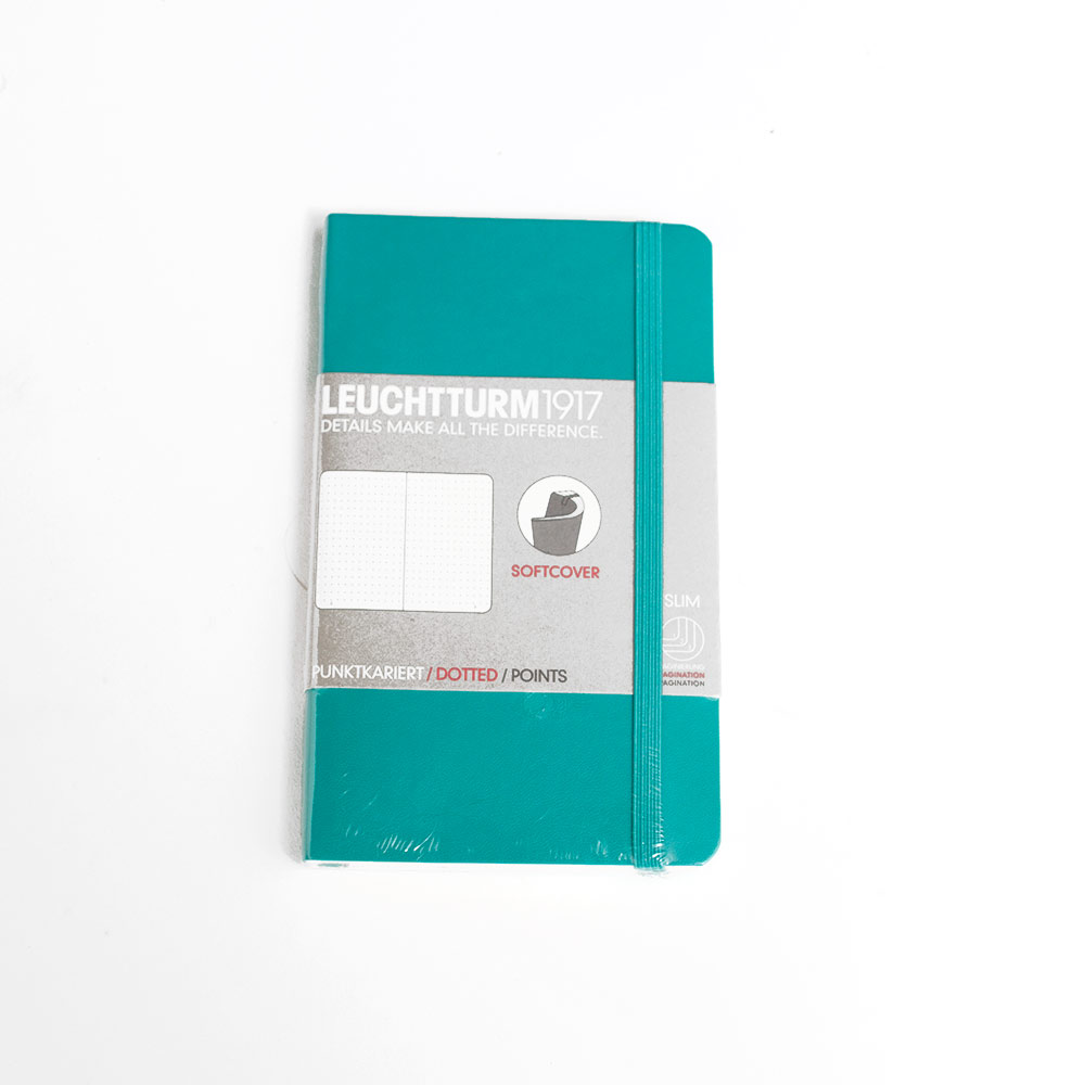 Leuchtturm, Pocket, Softcover, A6, Dotted, Emerald