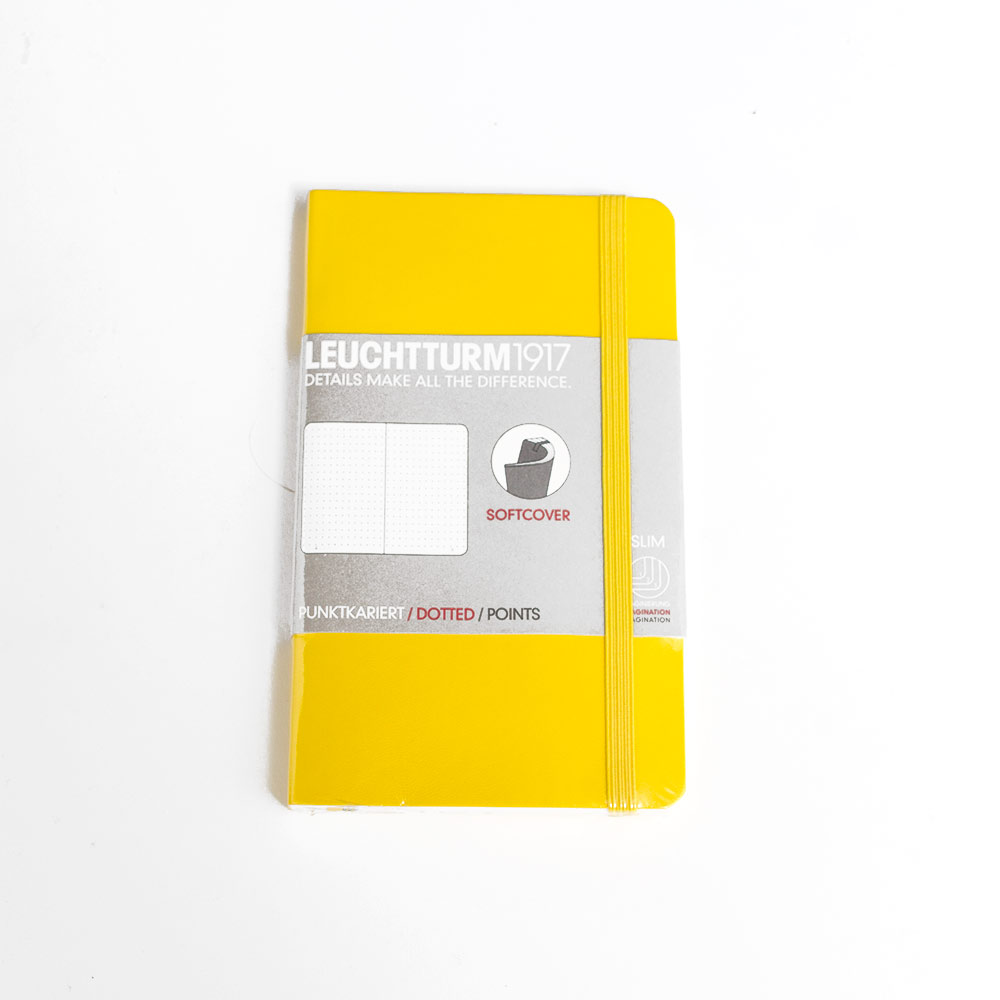 Leuchtturm, Pocket, Softcover, A6, Dotted, Lemon