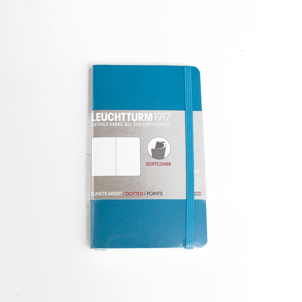 Leuchtturm, Pocket, Softcover, A6, Dotted, Nordic Blue