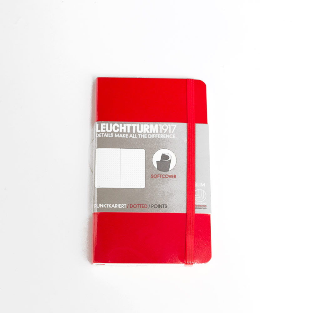 Leuchtturm, Pocket, Softcover, A6, Dotted, Red