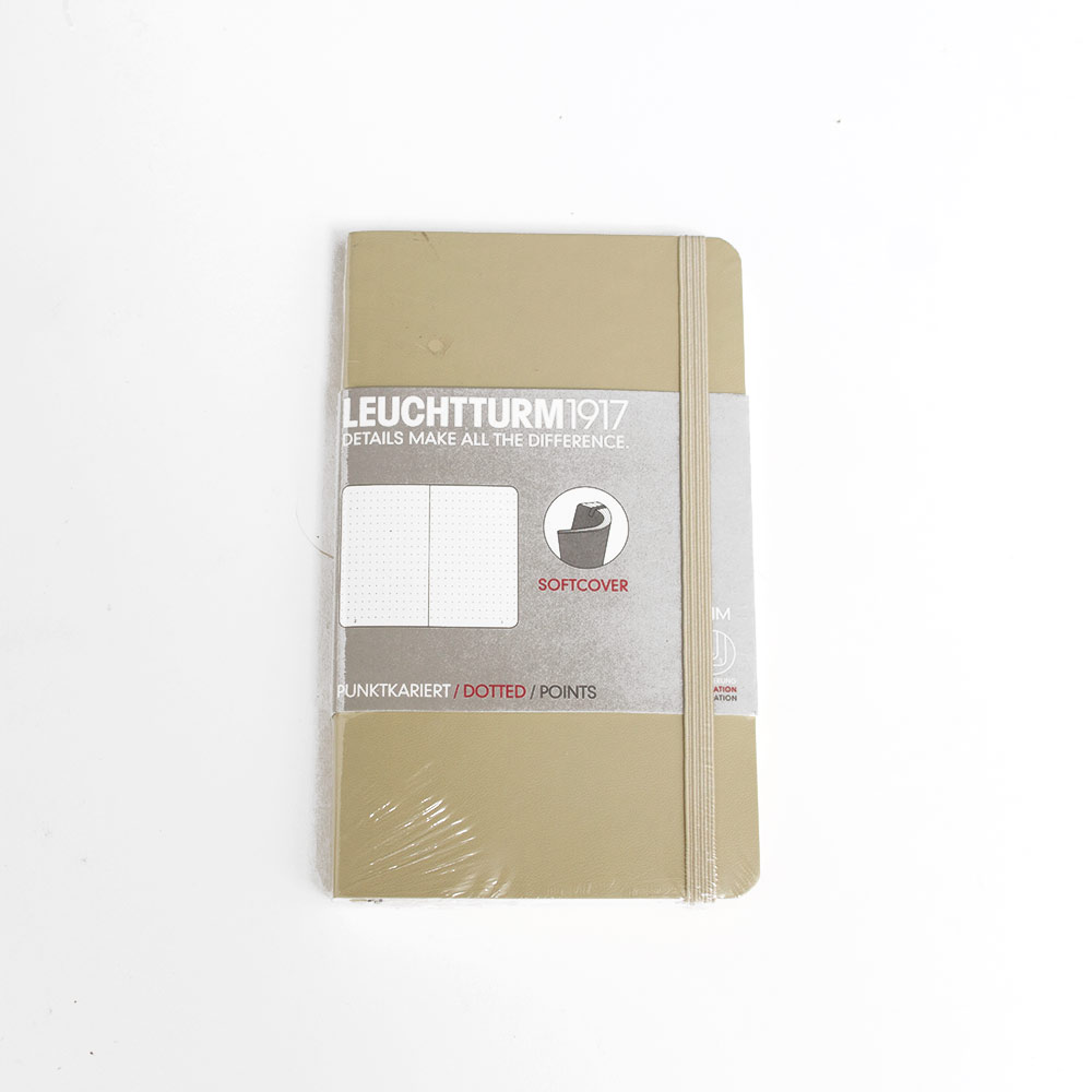 Leuchtturm, Pocket, Softcover, A6, Dotted, Sand