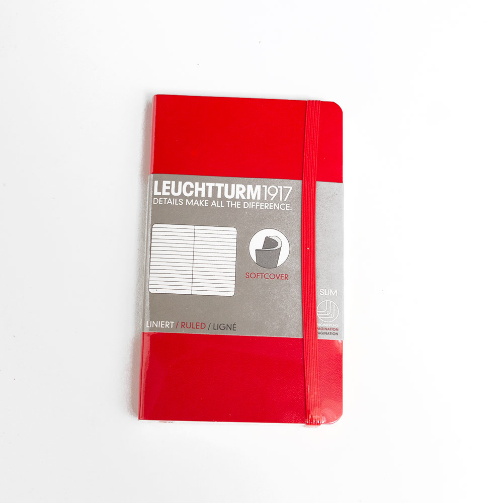 Leuchtturm, Pocket, Softcover, A6, Ruled, Red