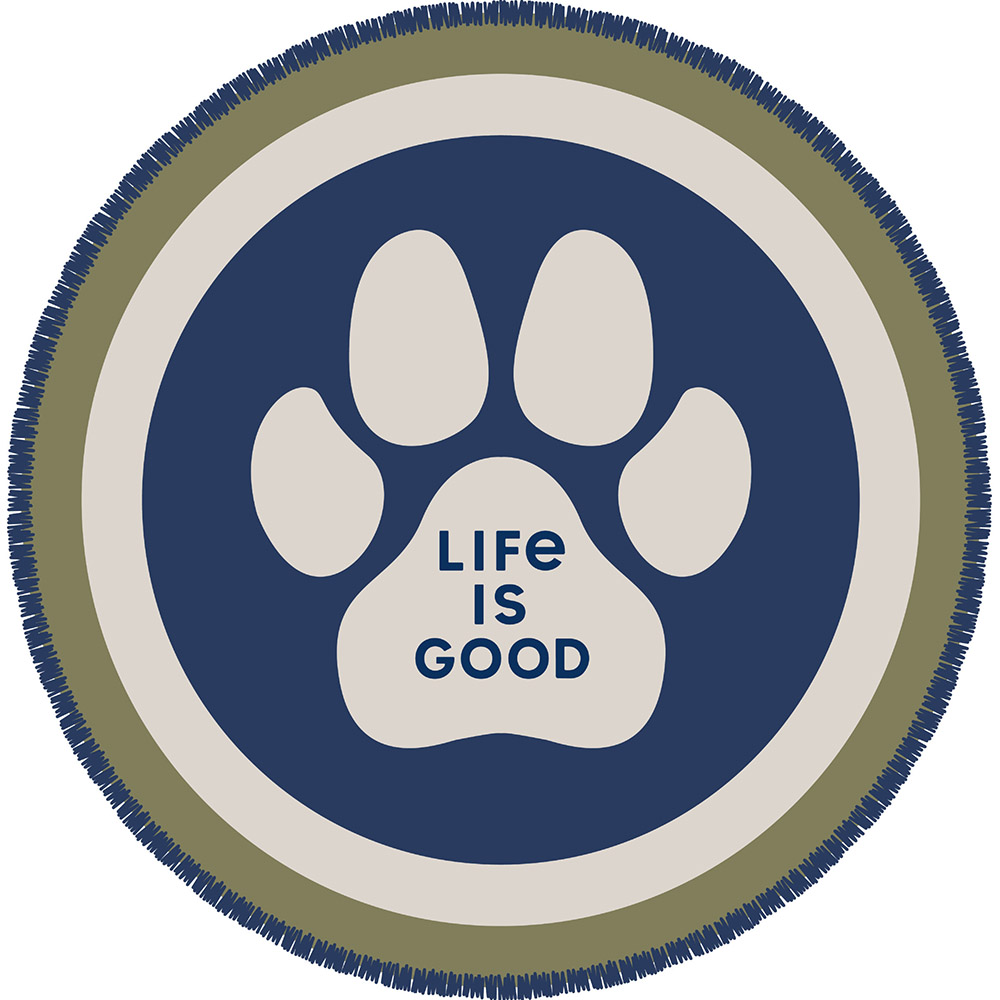 Life is Good, Paw, Iron-on Patch
