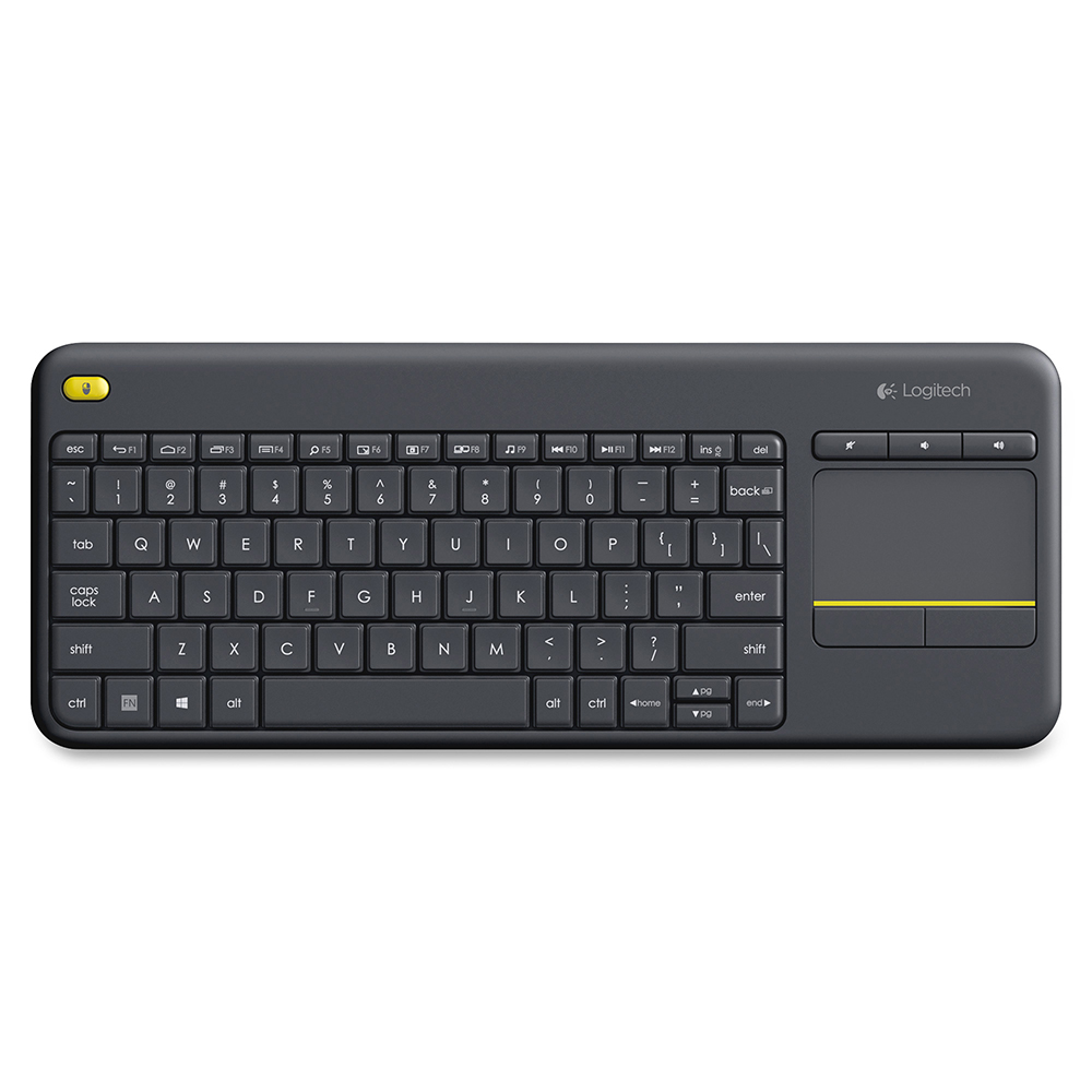 Logitech, K400+, Wireless, Touch, Keyboard