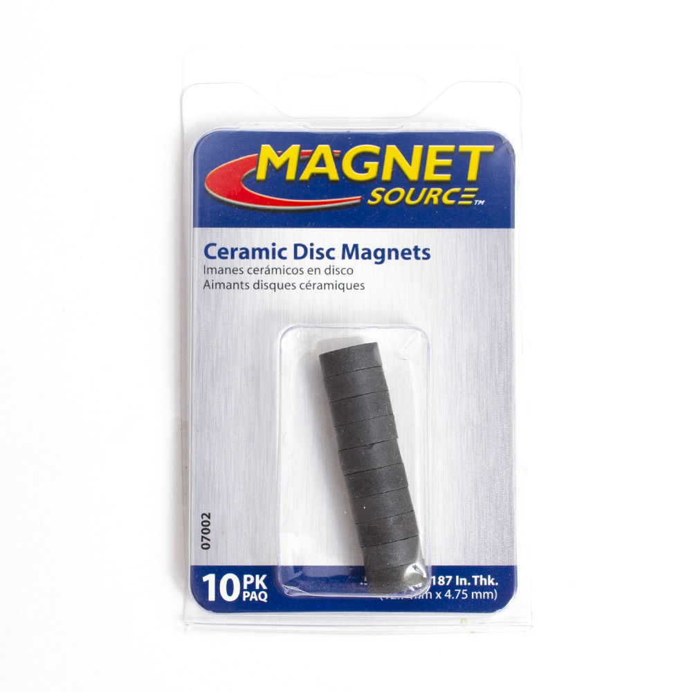 Magnet, Ceramic, Black