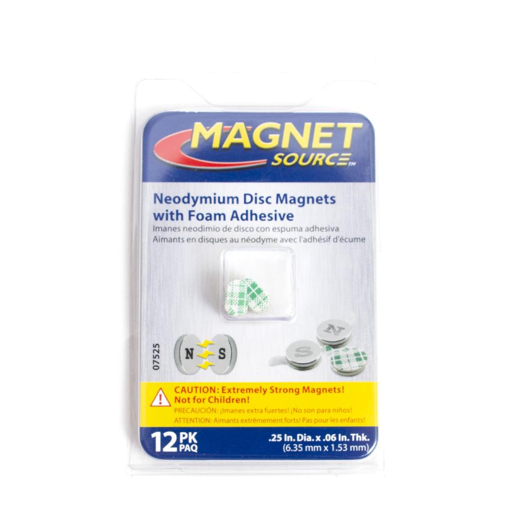 magnet source magnet neodymium disc 12 1 4 12 piece
