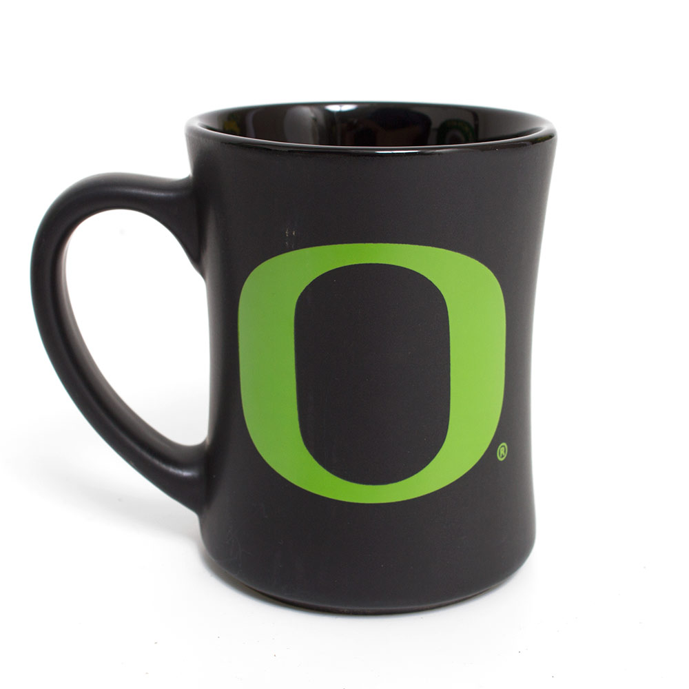 Matte Black with Apple O 16oz Mug