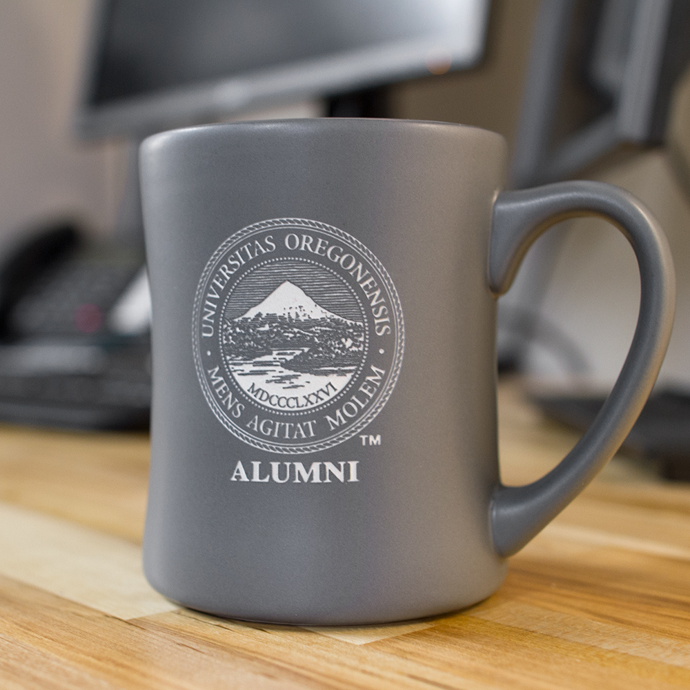 Matte, Oregon Seal, Alumni, Mug