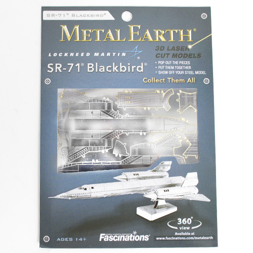 Metal Earth Model Kit Blackbird SR71 Reconnaissance Aircraft
