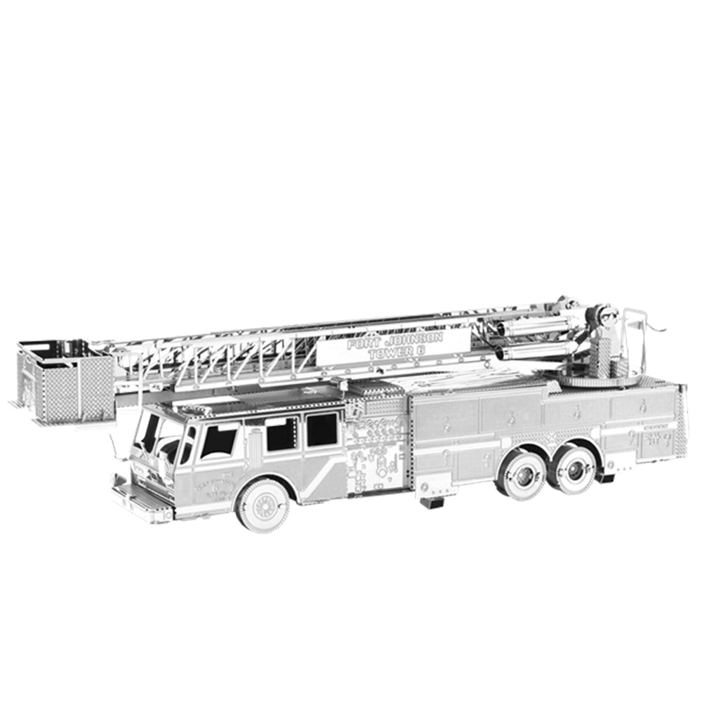 Metal Earth, 3D Model Kit, Metal, Fire Engine