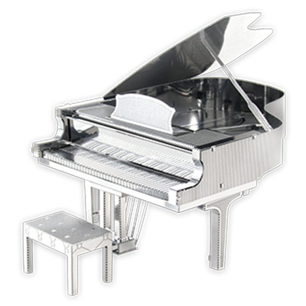 Metal Earth, 3D Model Kit, Metal, Grand Piano